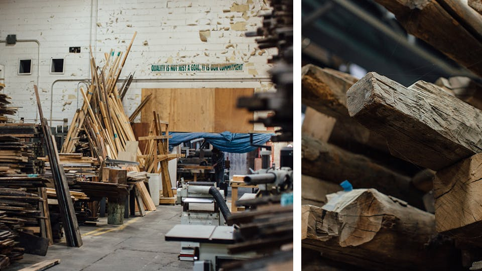 Meet the maker wallace detroit guitars the journal for Architectural salvage fort worth